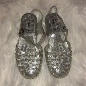 Silver sparkly jellies!